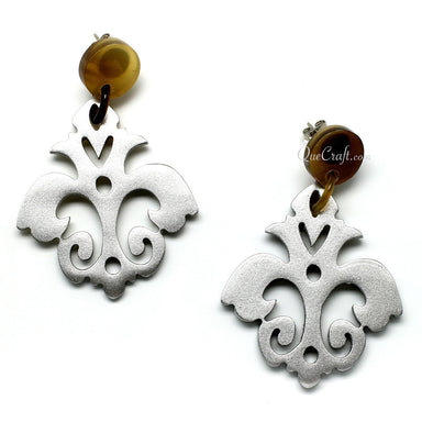 Horn & Lacquer Earrings - Q11108