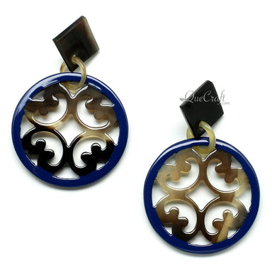 Horn & Lacquer Earrings #11382 - HORN.JEWELRY by QueCraft