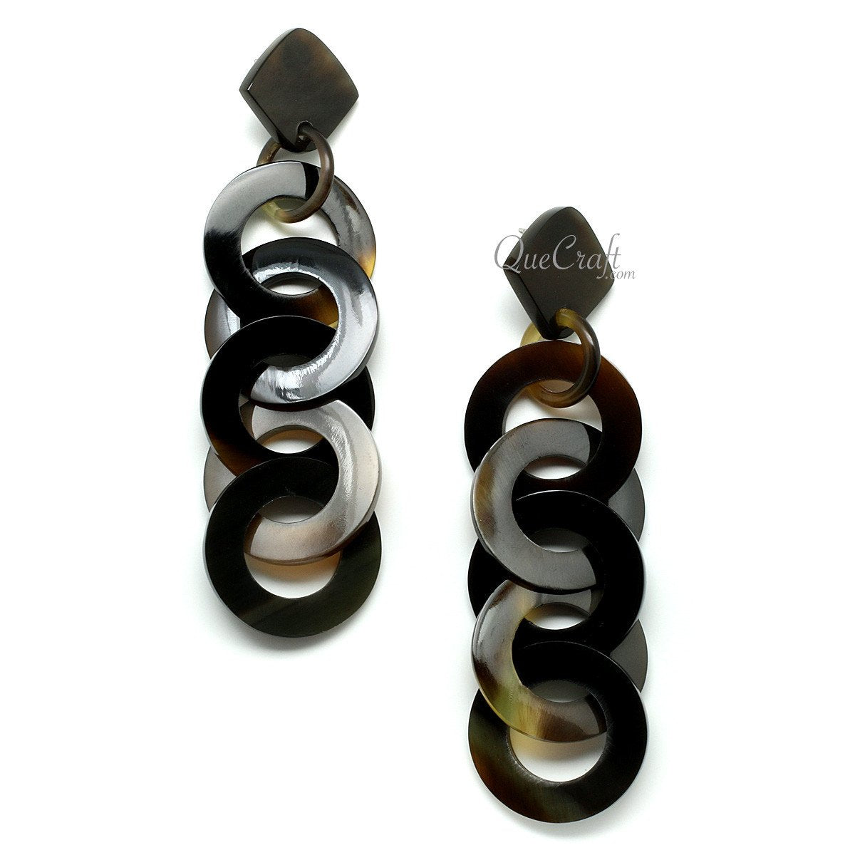 Horn Earrings #11672 - HORN.JEWELRY by QueCraft