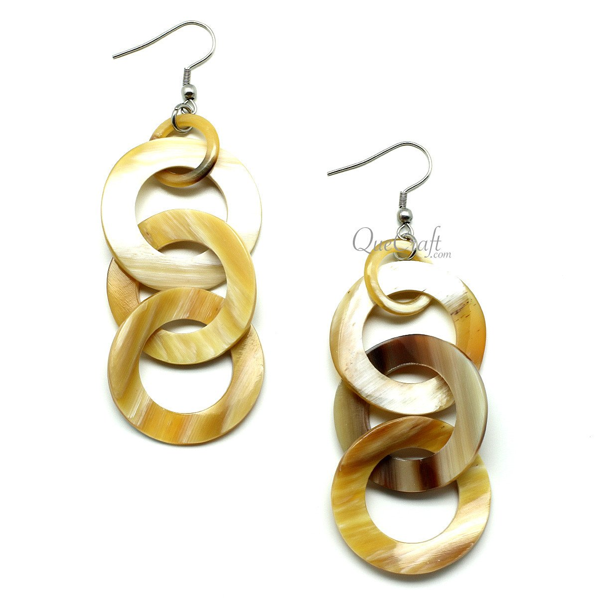 Horn Earrings #11918 - HORN.JEWELRY by QueCraft