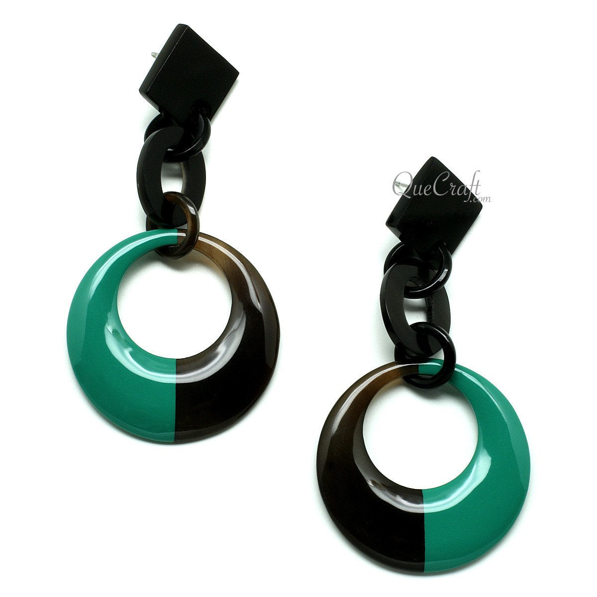 Horn & Lacquer Earrings #11946 - HORN.JEWELRY