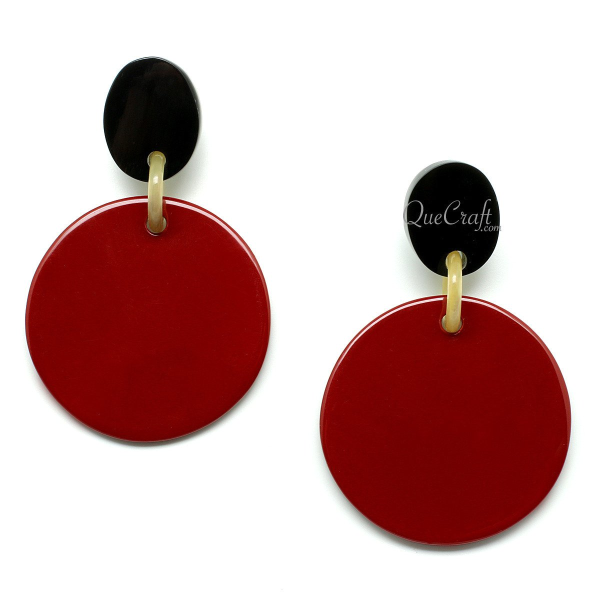 Horn & Lacquer Earrings #11974 - HORN.JEWELRY