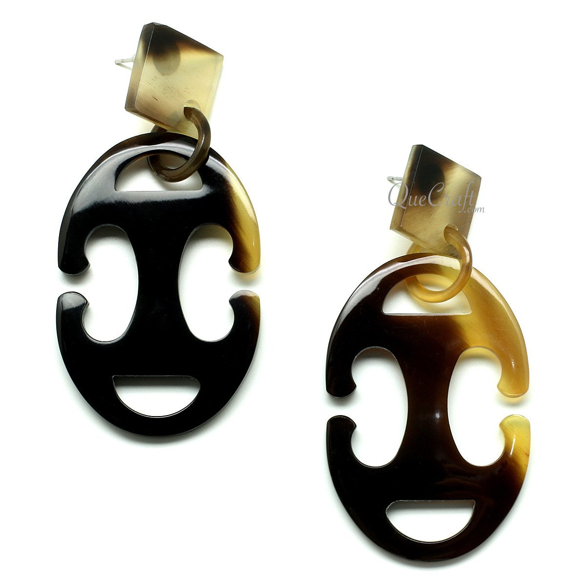 Horn Earrings #12008 - HORN.JEWELRY by QueCraft