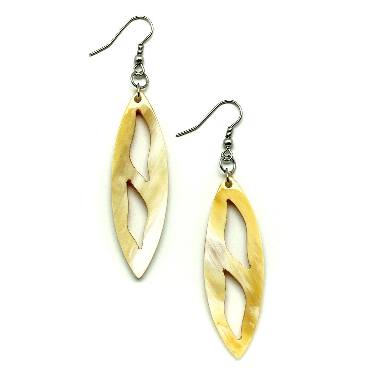 Horn Earrings #12064 - HORN.JEWELRY by QueCraft