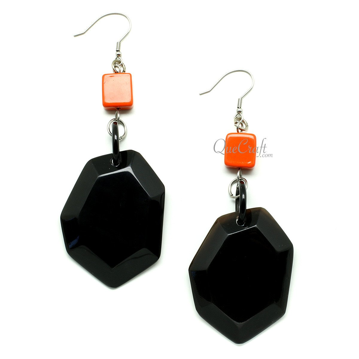 Horn & Lacquer Earrings #12097 - HORN.JEWELRY