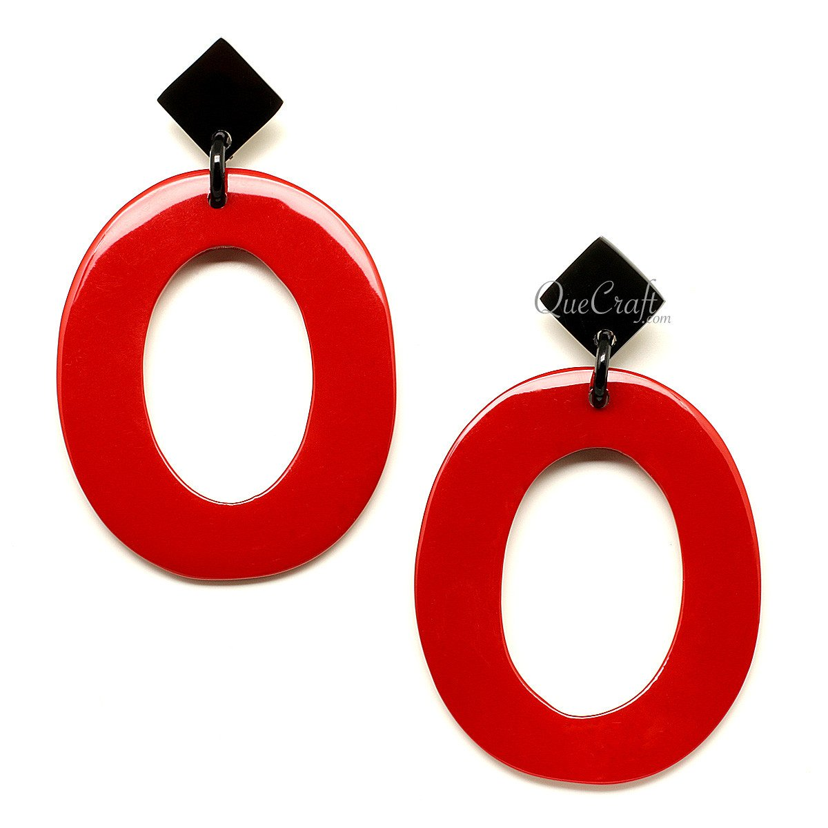 Horn & Lacquer Earrings #12197 - HORN.JEWELRY by QueCraft