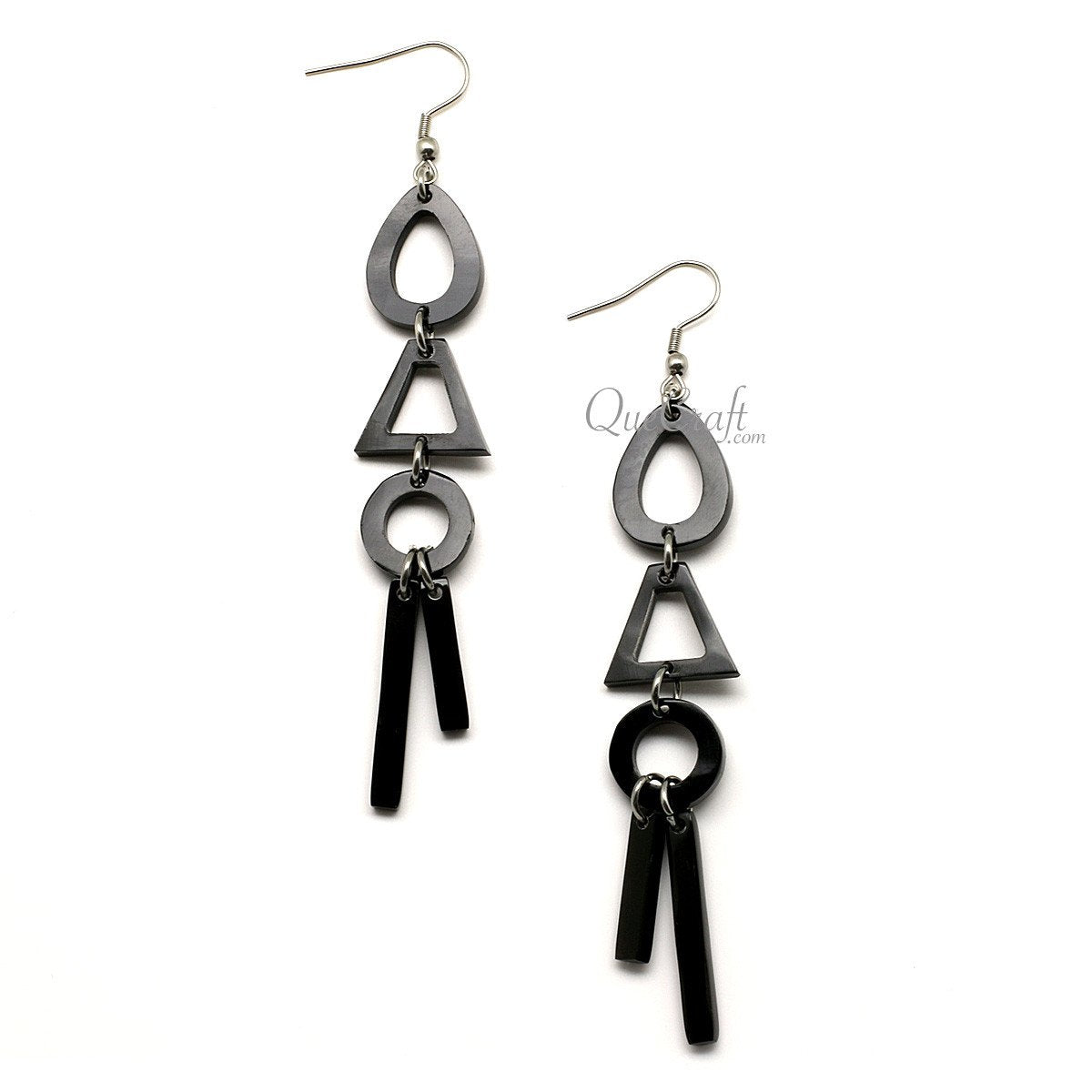 Horn Earrings #12355 - HORN.JEWELRY by QueCraft