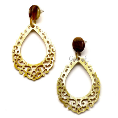 Horn Earrings #12546 - HORN.JEWELRY by QueCraft