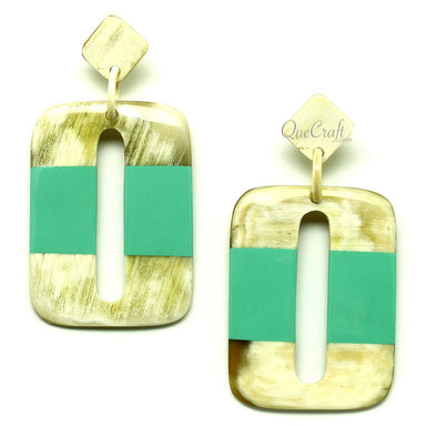 Horn & Lacquer Earrings #12853 - HORN.JEWELRY