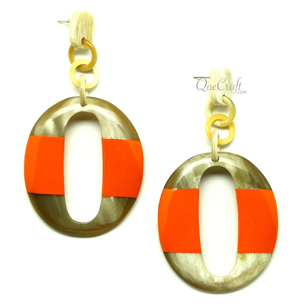 Horn & Lacquer Earrings #12854 - HORN.JEWELRY