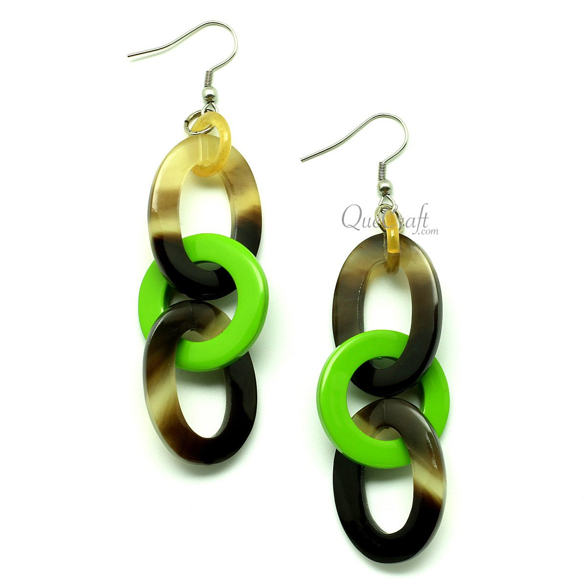 Horn & lacquer Earrings #12867 - HORN.JEWELRY