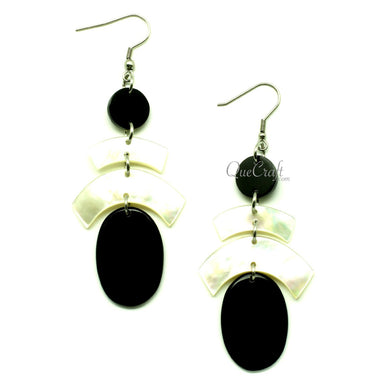 MOP & Horn Earrings #13157 - HORN.JEWELRY