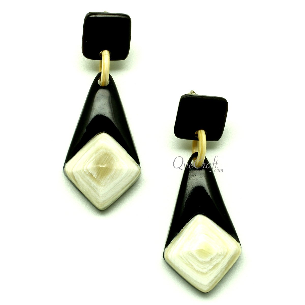 Horn Earrings #13184 - HORN.JEWELRY by QueCraft