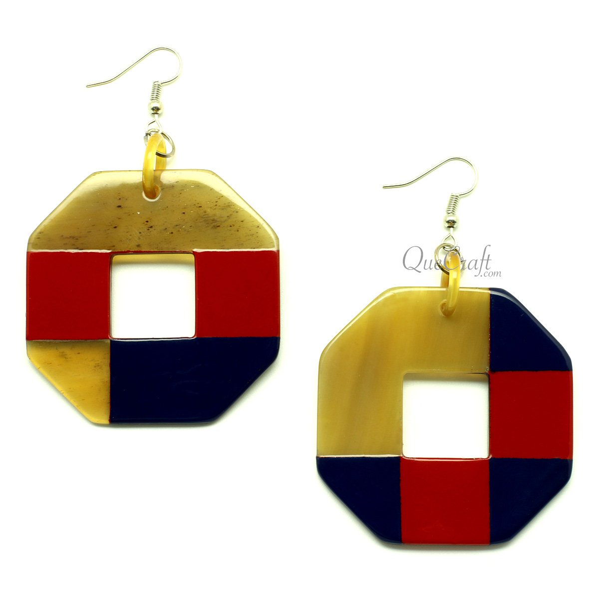 Horn & Lacquer Earrings #13251 - HORN.JEWELRY by QueCraft