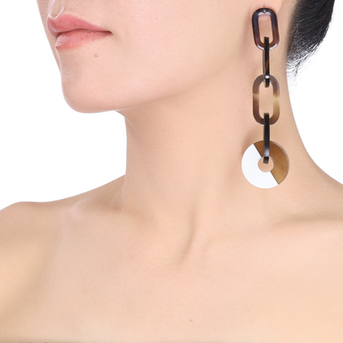 Horn & Lacquer Earrings #13751 - HORN.JEWELRY by QueCraft