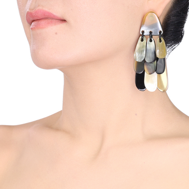 Horn Earrings #13885 - HORN.JEWELRY by QueCraft