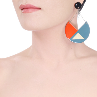Horn & Lacquer Earrings #14078 - HORN.JEWELRY