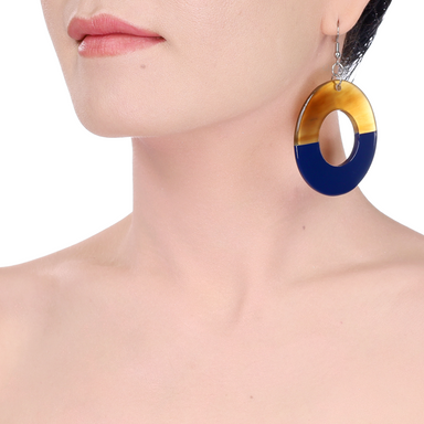Horn & Lacquer Earrings #14211 - HORN.JEWELRY