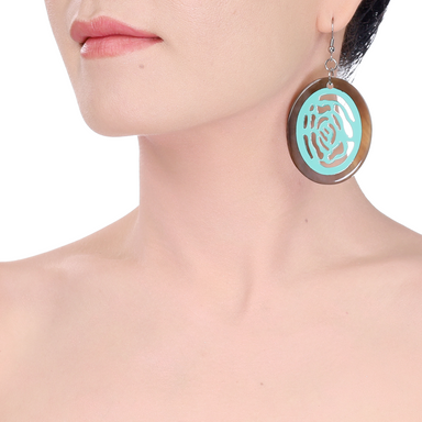 Horn & Lacquer Earrings #14212 - HORN.JEWELRY