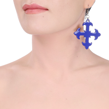 Horn & Lacquer Earrings #14215 - HORN.JEWELRY