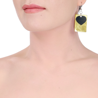 Horn & Lacquer Earrings #14218 - HORN.JEWELRY