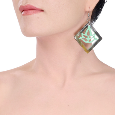Horn & Lacquer Earrings #14220 - HORN.JEWELRY by QueCraft