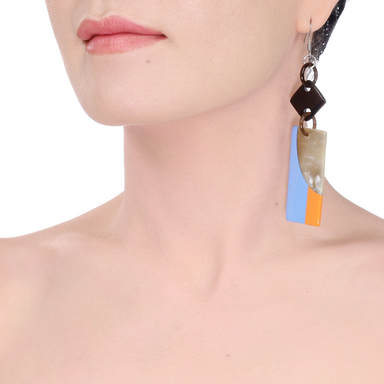 Horn & Lacquer Earrings #14222 - HORN.JEWELRY by QueCraft