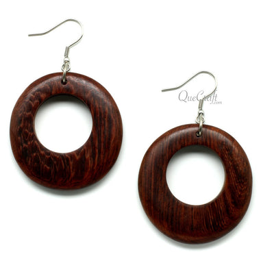 Rosewood Earrings #10292 - HORN.JEWELRY