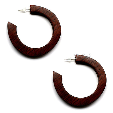 Rosewood Earrings #12436 - HORN.JEWELRY