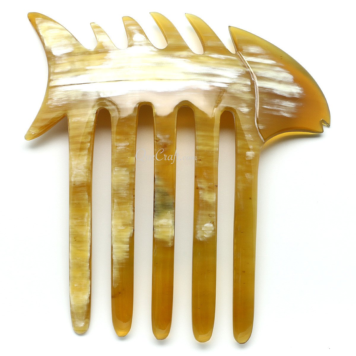 Horn Hair Comb #11336 - HORN.JEWELRY by QueCraft