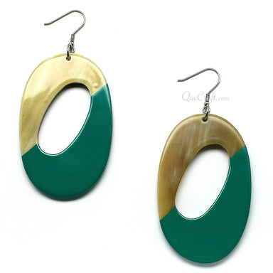 Horn & Lacquer Earrings - Q6162