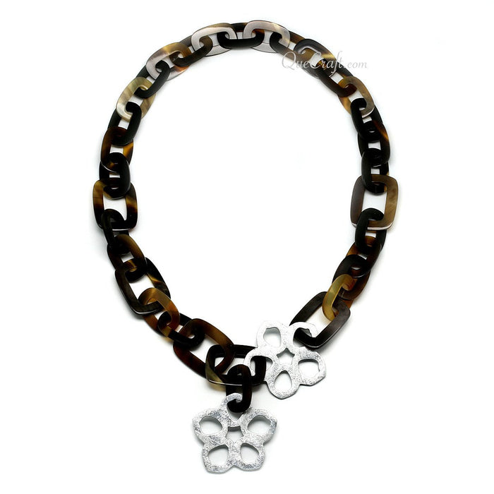 Horn & Lacquer Chain Necklace #4609 - HORN.JEWELRY