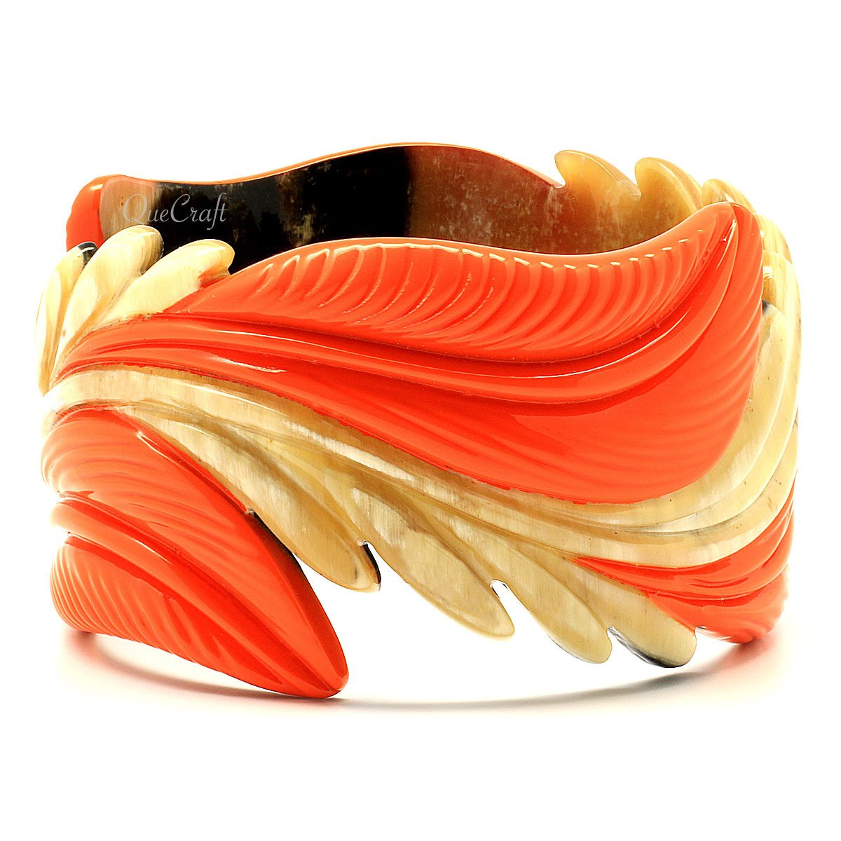 Horn & Lacquer Bangle Bracelet #8828 - HORN.JEWELRY by QueCraft
