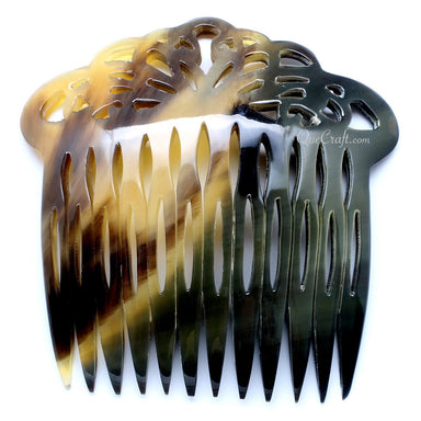 Horn Hair Comb #10665 - HORN.JEWELRY