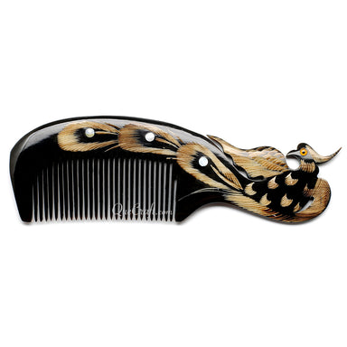 Horn & Shell Hair Comb #10690 - HORN.JEWELRY