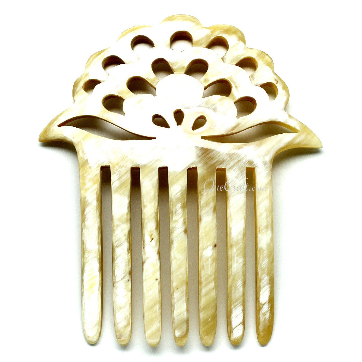 Horn Hair Comb #11337 - HORN.JEWELRY