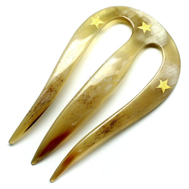 Horn & Lacquer Hair Pin #11409 - HORN.JEWELRY