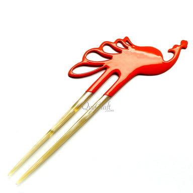 Horn & Lacquer Hair Pin #11788 - HORN.JEWELRY