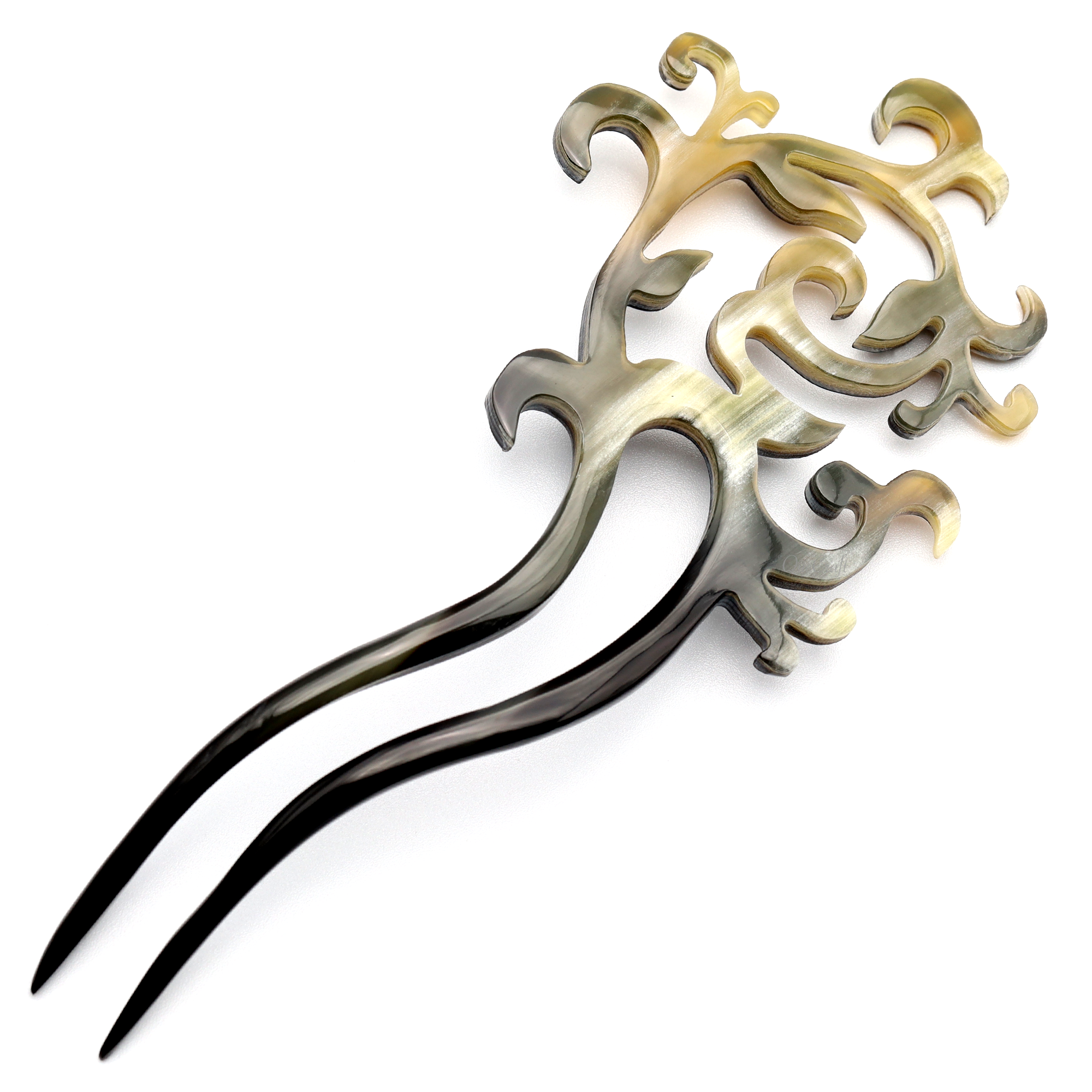 Horn Hair Pin #12731 - HORN.JEWELRY