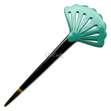Horn & Lacquer Hair Stick #11792 - HORN.JEWELRY