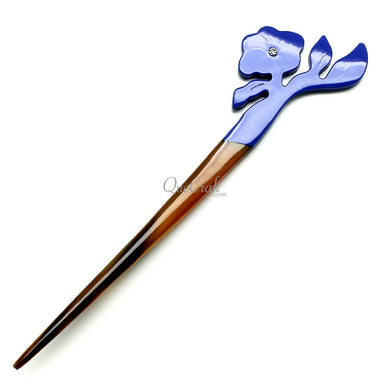 Horn & Lacquer Hair Stick #11795 - HORN.JEWELRY