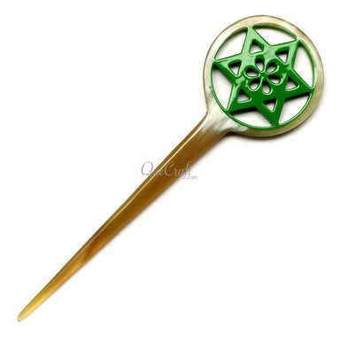 Horn & Lacquer Hair Stick #12603 - HORN.JEWELRY