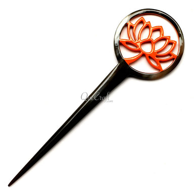Horn & Lacquer Hair Stick #12607 - HORN.JEWELRY
