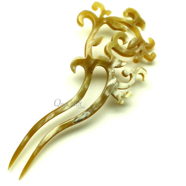 Horn Hair Pin #13314 - HORN.JEWELRY