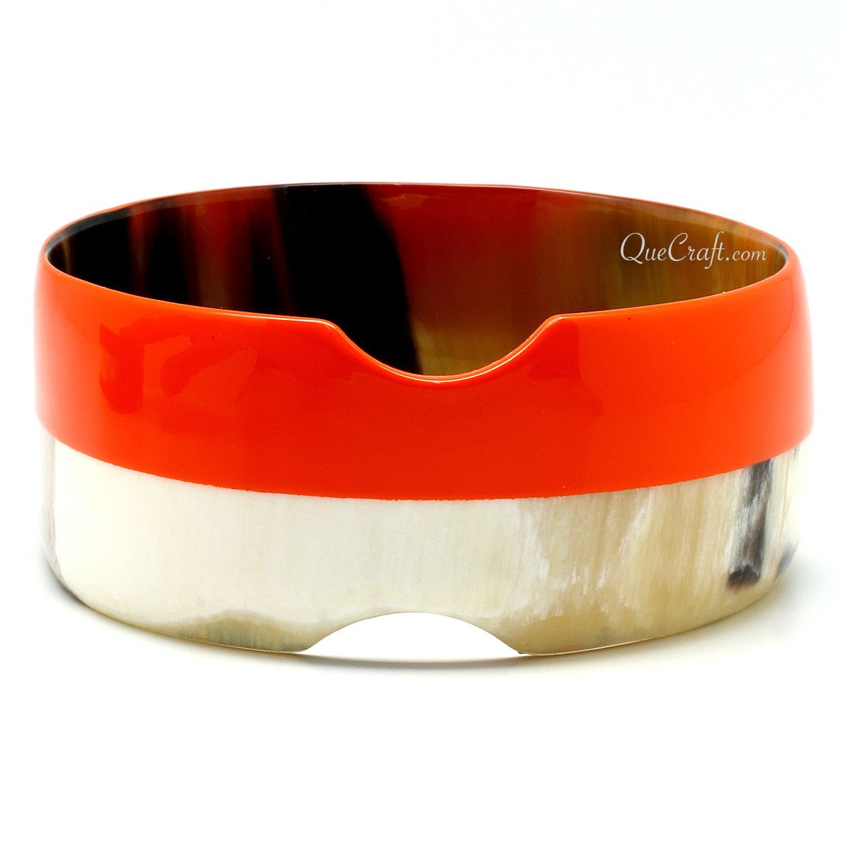 Horn & Lacquer Bangle Bracelet #11410 - HORN.JEWELRY