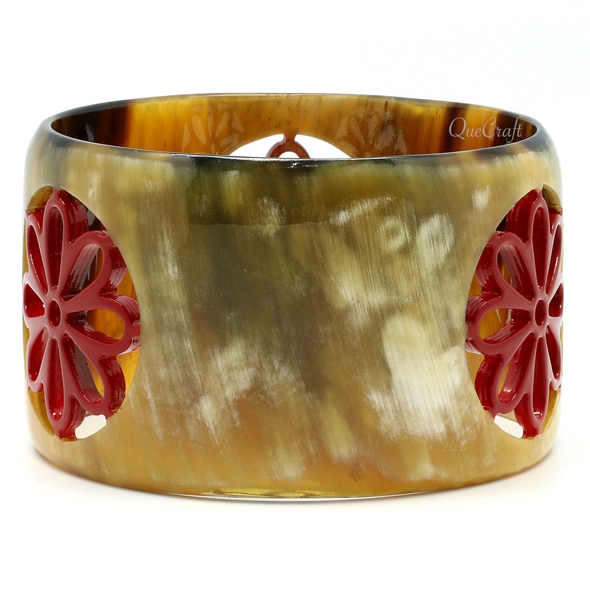 Horn & Lacquer Bangle Bracelet #9637 - HORN.JEWELRY