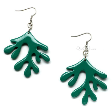 Horn & Lacquer Earrings - Q6211