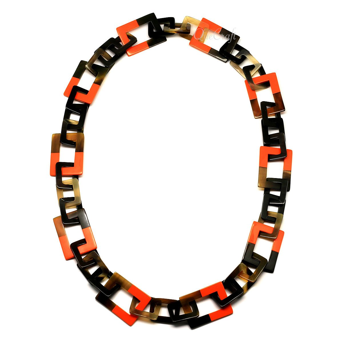 Horn & Lacquer Chain Necklace - Q4633