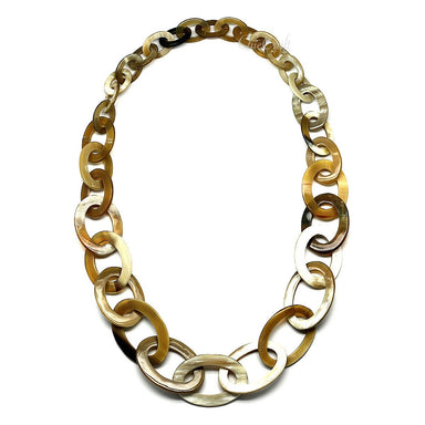 Horn Chain Necklace #9690 - HORN.JEWELRY by QueCraft