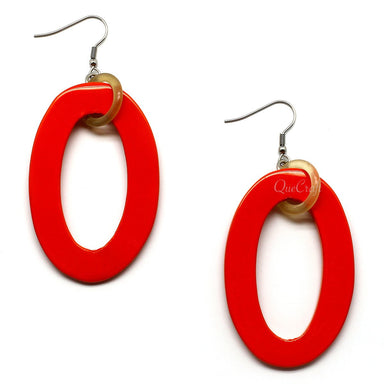 Horn & Lacquer Earrings - Q9792